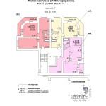 жд № 1 в 106 мкр. план 2 этажа под.№1блок-оси 8-9