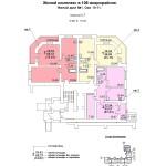 ж.д №1 в 106 мкр План 1 этажа подъезд №1 блок-оси 10-11.