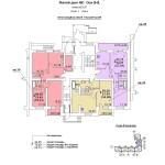 ж.д №1 в 106 мкр План 1 этажа подъезд №2 блок-оси 8-9.