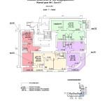 ж.д №1 в 106 мкр План 1 этажа подъезд №3 нов блок-оси 6-7.