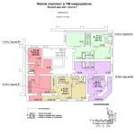 ж.д №1 в 106 мкр План 10 этажа  блок-оси 6-7.