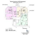 ж.д №1 в 106 мкр План 10 этажа подъезд №1блок-оси 10-11