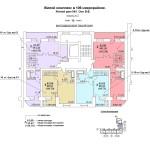 ж.д №1 в 106 мкр План 10 этажа подъезд №2блок-оси 8-9