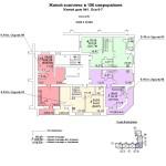 ж.д №1 в 106 мкр План 9 этажа блок-оси 6-7.
