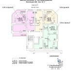 ж.д №1 в 106 мкр План 9 этажа подъезд №1блок-оси 10-11.