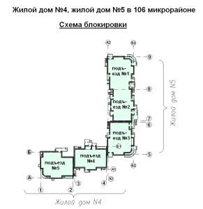 схема блокировки ж.д. №4 в 106 мкр. от 19.07.13г